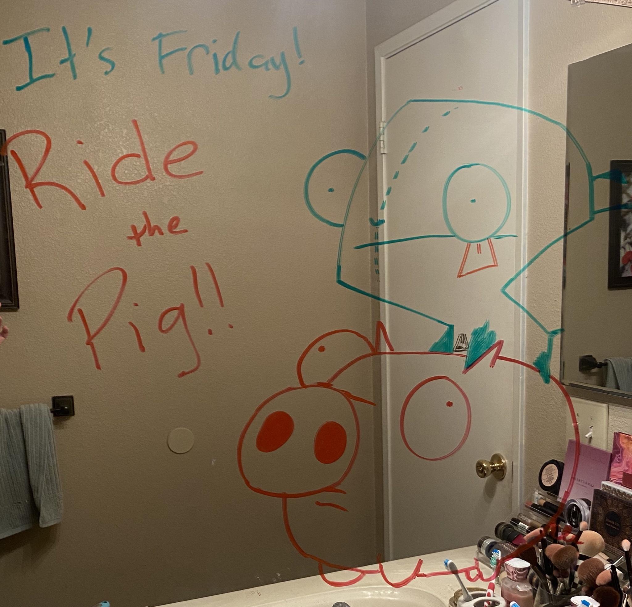 Marido faz desenhos hilários no espelho do banheiro para esposa ir trabalhar mais relaxada 7