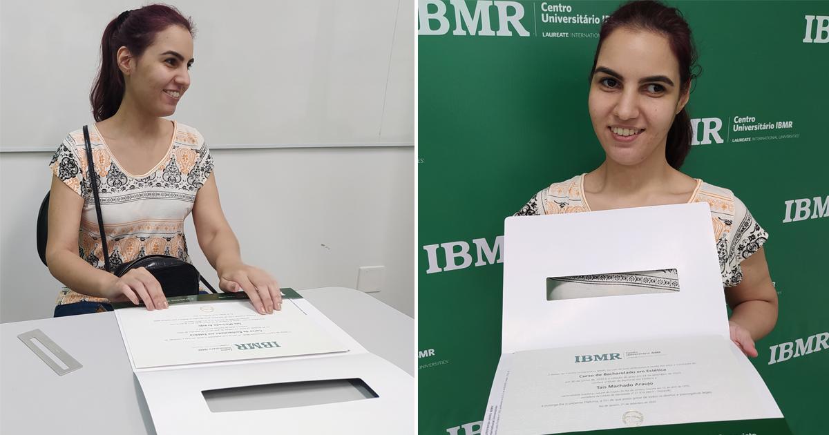 Universidade atende pedido de mãe e entrega diploma em Braille para estudante deficiente visual 1