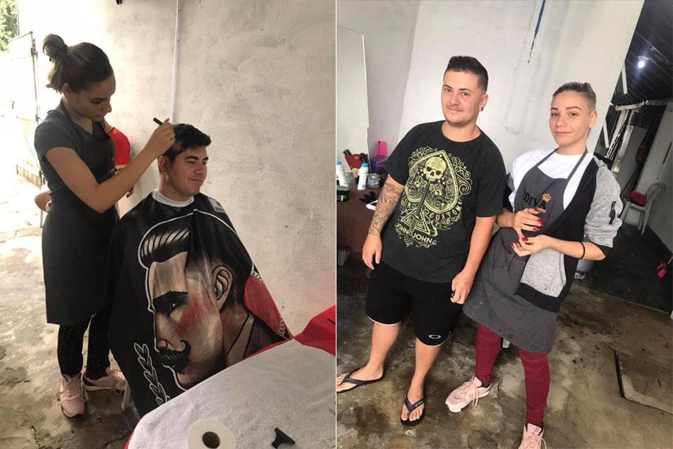 Em um ano, jovem que cortava cabelo por R$ 2 na garagem conquista o próprio salão (SP) 3