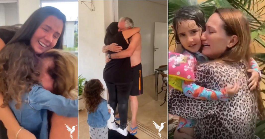 familia se reencontra após 2 anos