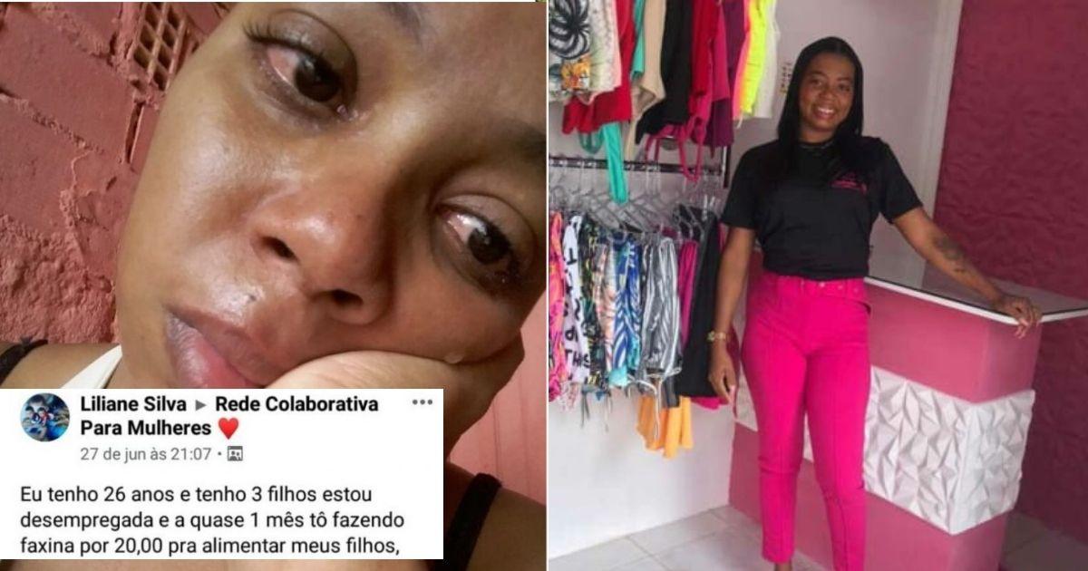 Com ajuda de vaquinha, mulher que anunciou faxina por R$ 20 empreende e inaugura sua própria loja 1