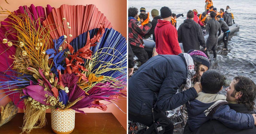 Mãe cria atelier de flores para ajudar trabalho humanitário da filha com refugiados: Flores para os Refugiados 6