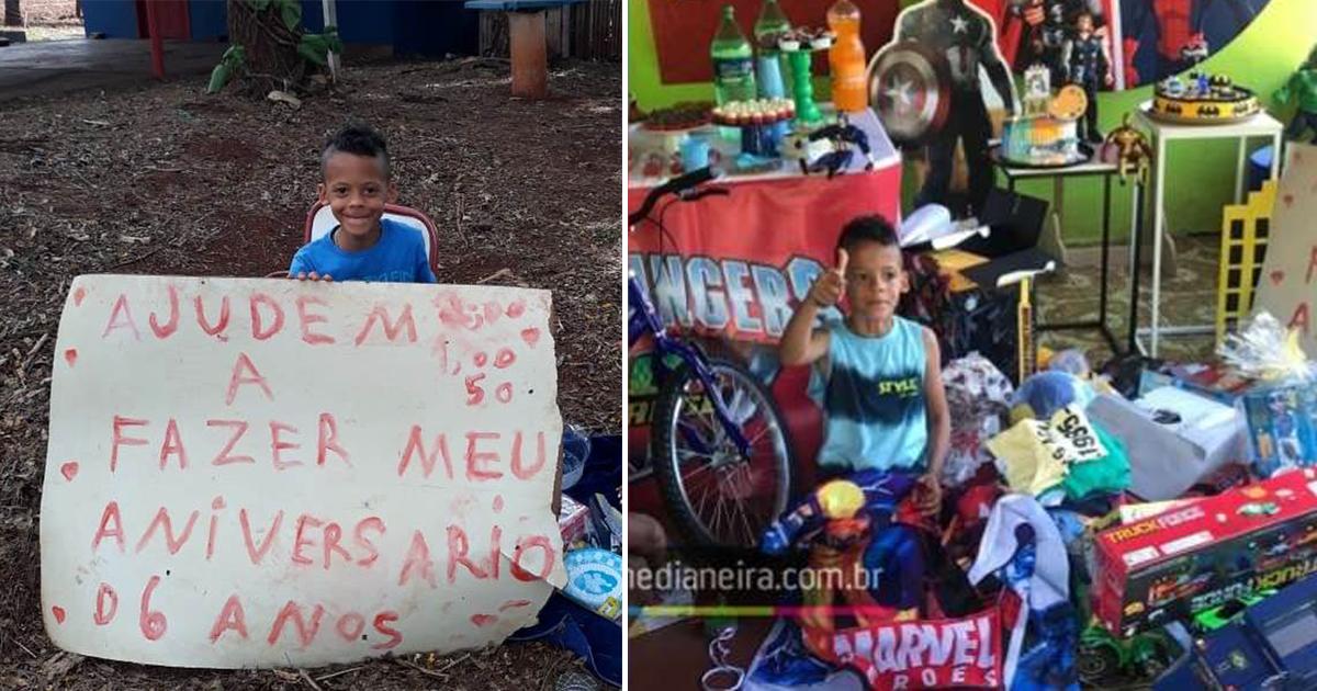 Após pedido comovente em rodovia, menino ganha festa de aniversário de desconhecidos [VÍDEO] 1