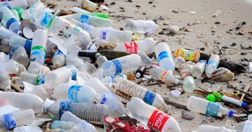 Lixo de garrafa PET