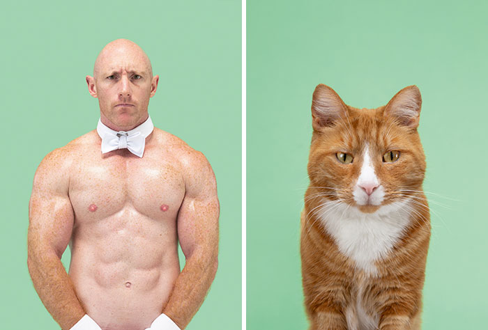 Fotógrafo cria coletânea incrível com fotos de gatos e seus sósias humanos 2
