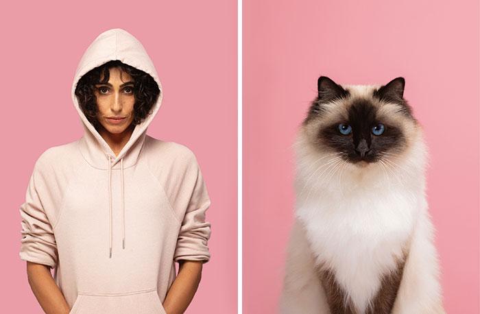 Fotógrafo cria coletânea incrível com fotos de gatos e seus sósias humanos 5