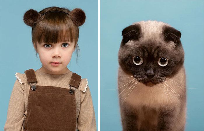 Fotógrafo cria coletânea incrível com fotos de gatos e seus sósias humanos 8