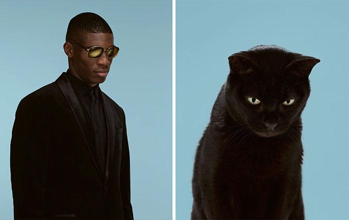 Fotógrafo cria coletânea incrível com fotos de gatos e seus sósias humanos 13