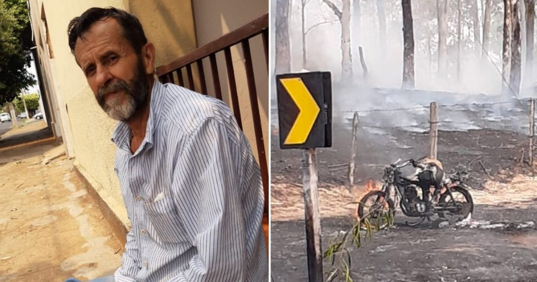 Homem comove web ao ter moto incendiada, enquanto tentava salvar animais de queimada 6