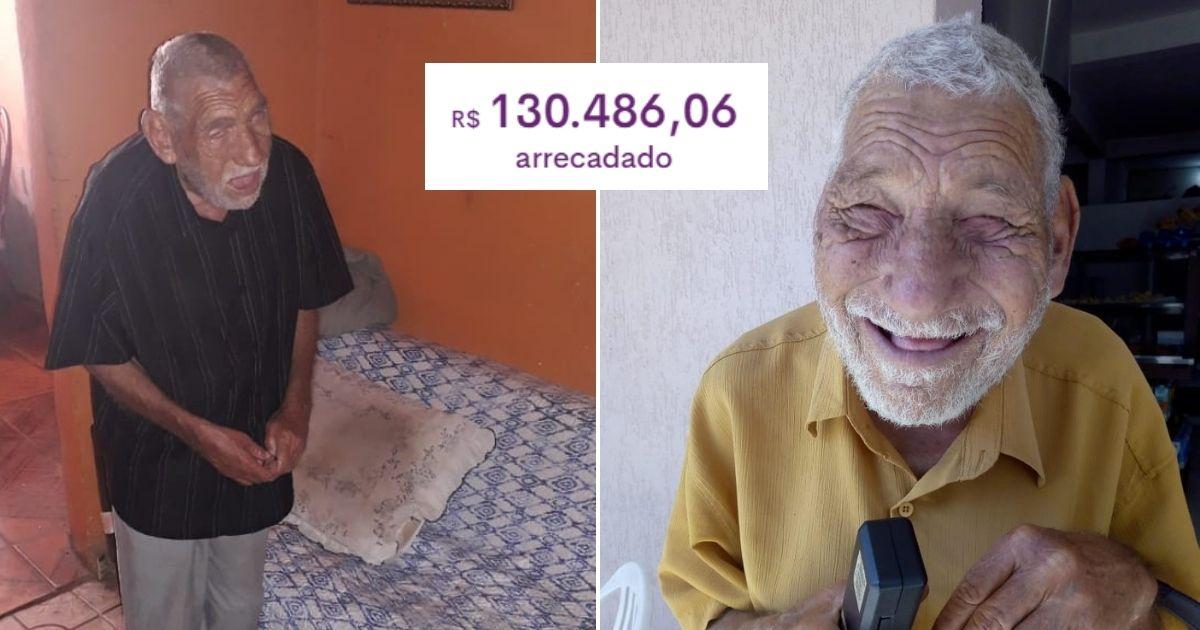 Vivendo sozinho, idoso cego toca gaita para sobreviver, comove web e vaquinha bate R$130 mil 1