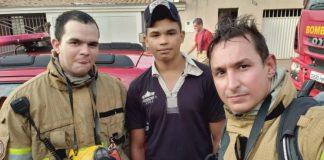 jovem salva familia de incendio