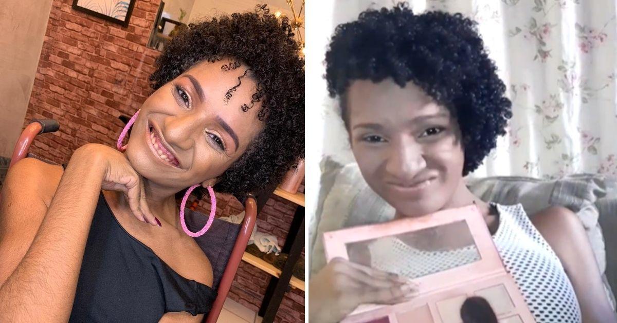 Jovem com paralisia aprende se maquiar sozinha e inspira web com lindos tutoriais [VÍDEO] 2