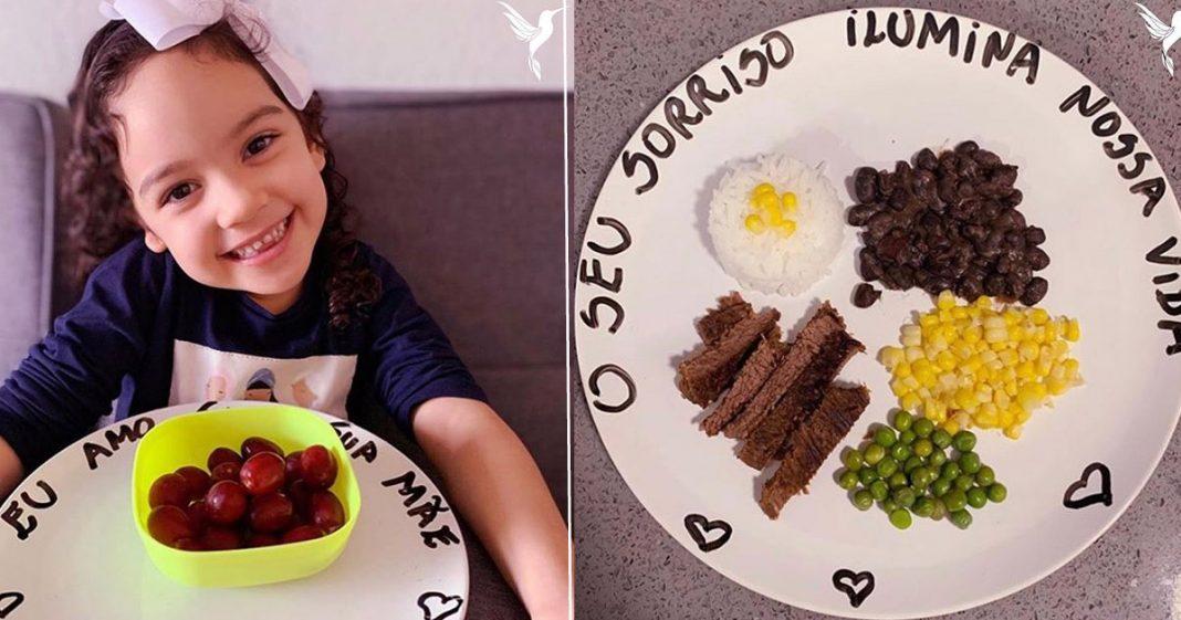 Mãe escreve mensagens positivas nas refeições da filha para que ela nunca esqueça o quanto é feliz 1