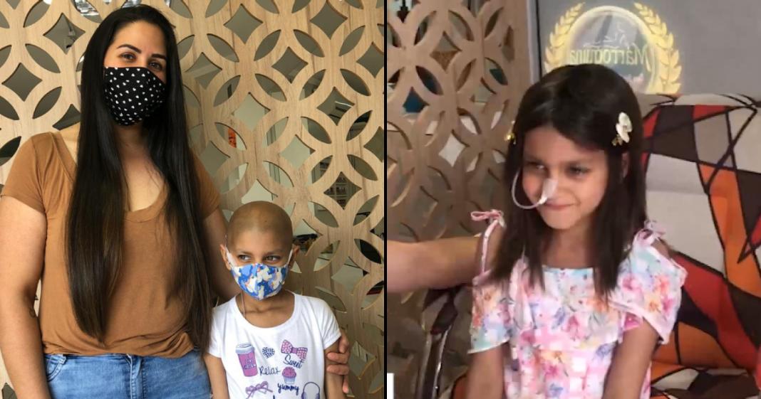 mãe doa cabelo para fazer peruca pra filha