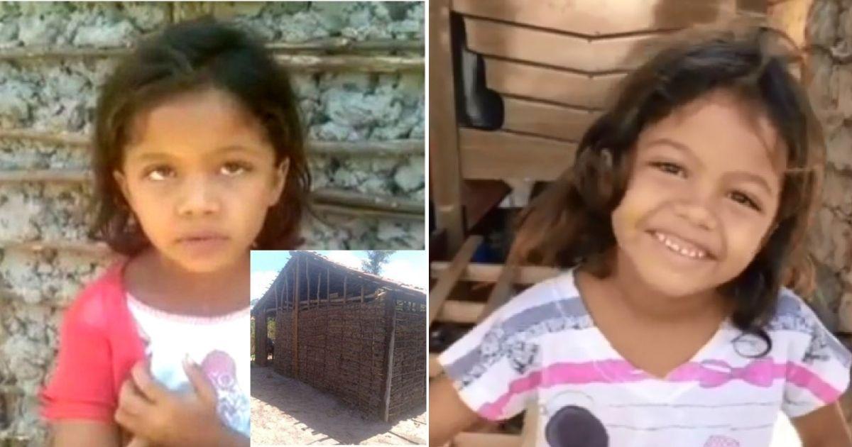 """Menina que pediu casa com geladeira """"para beber água gelada"""" recebe mais de R$ 62 mil em doações 1"""