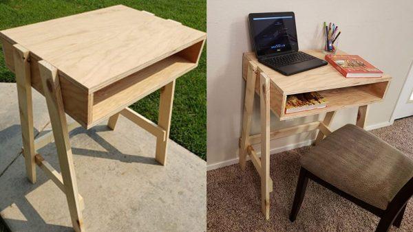 homem constrói cadeira