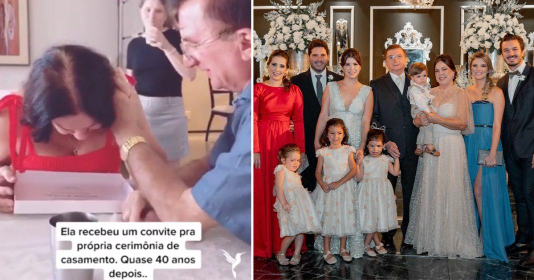 Filhos realizam o sonho da mãe e organizam cerimônia de casamento dos pais 40 anos após a união 5