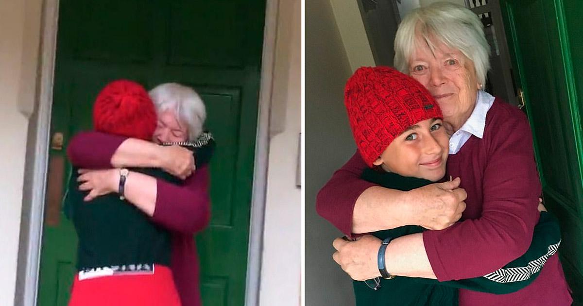 O emocionante reencontro do menino de 11 anos que foi a pé da Itália à Inglaterra para abraçar a avó 2