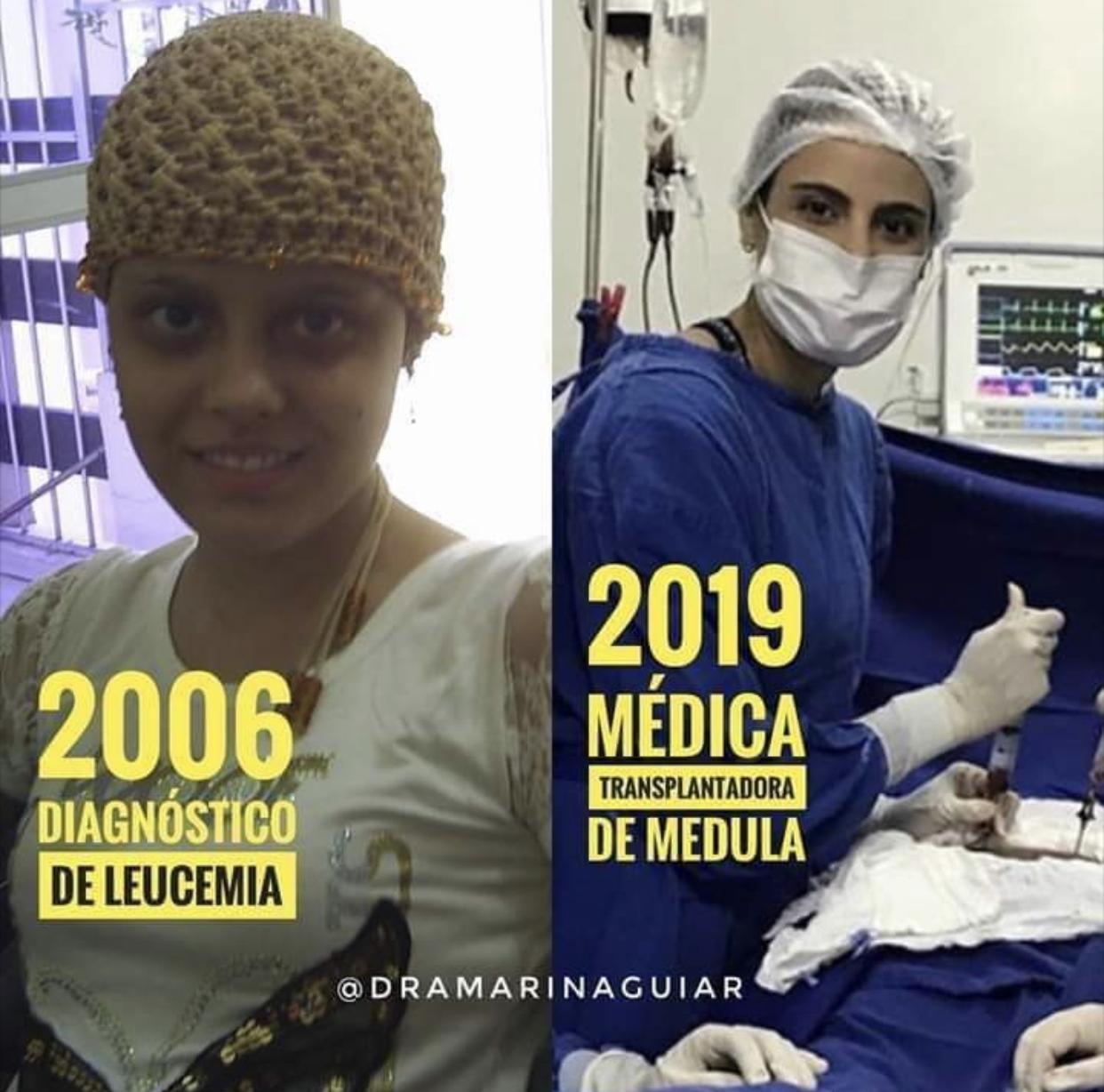 antes e depois paciente virou médica