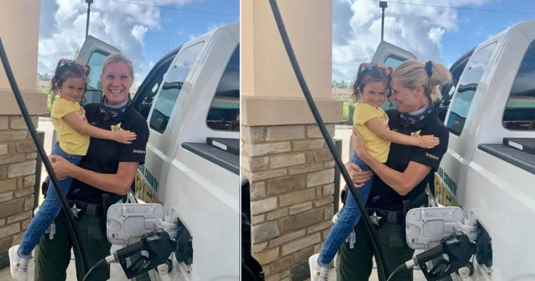 policial encontra garota que salvou