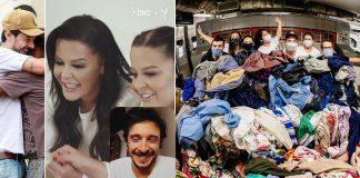 voluntários lavando roupas moradores de rua