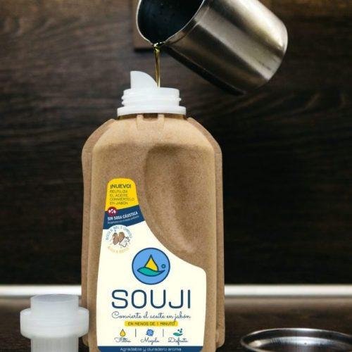 souji transforma óleo em sabão