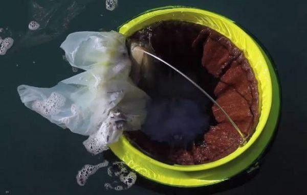 sugador de sujeira do mar