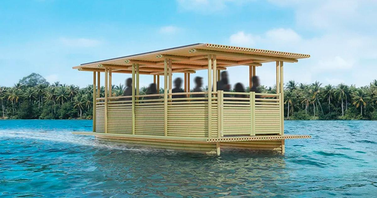 Londres lança incrível táxi aquático feito de bambu e movido a energia solar 2