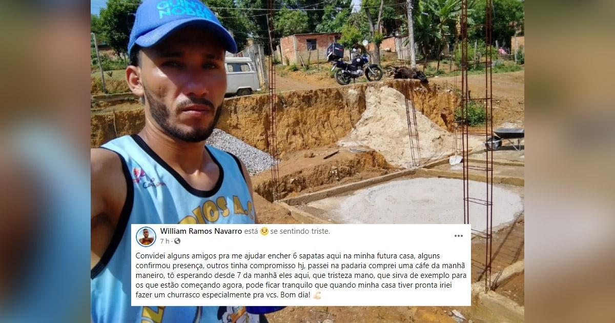 Após amigos furarem de ajudar motoboy na construção da casa, desconhecidos se mobilizam e post viraliza 2