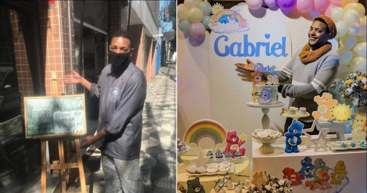 GAbriel ganha primeira festa de aniversário