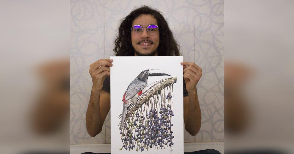 brasileiro ganha prêmio com ilustração