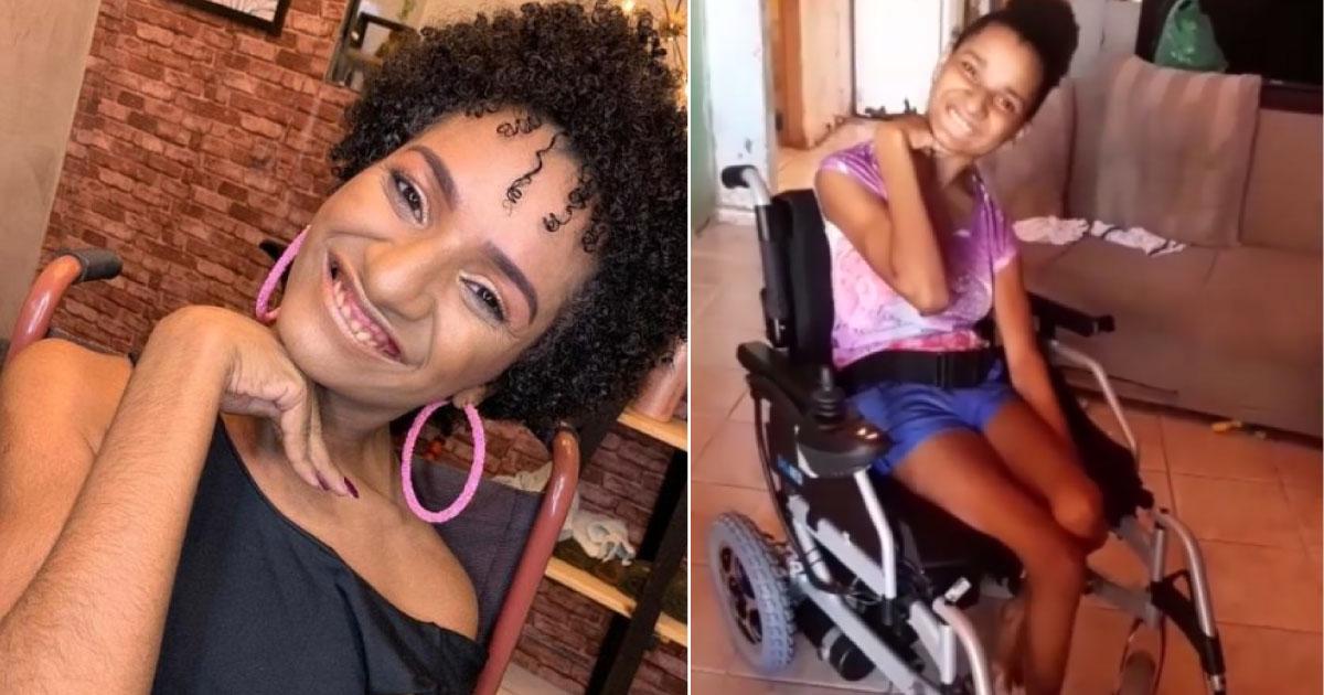 jovem compra cadeira motorizada com vaquinha