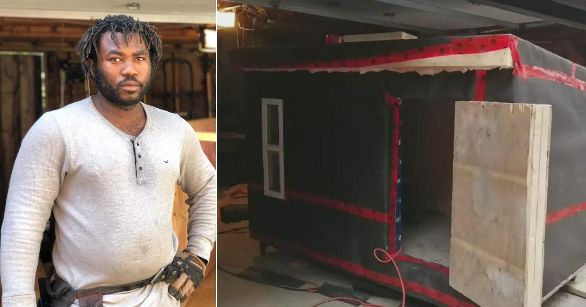 Carpinteiro constrói abrigos de graça para pessoas sem-teto se manterem aquecidas no inverno do Canadá 1