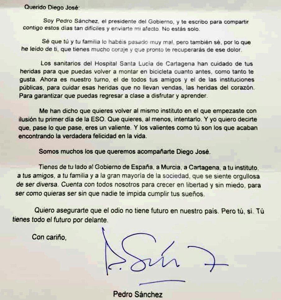 Primeiro-ministro da Espanha envia carta emocionante a menino agredido com ofensas homofóbicas 3