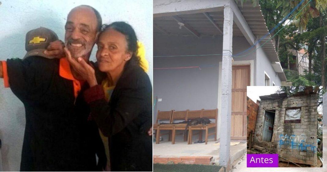 Com vaquinha, vizinhos constroem casa de idosos que viviam em condições desumanas 2