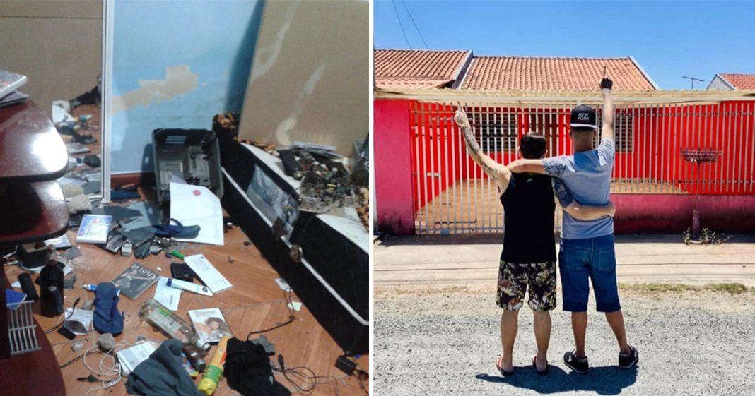 Casal gay que teve casa incendiada dá a volta por cima e compra casa nova 4