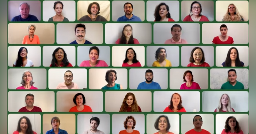 Grupo Cantantes Virtuais encanta web com sua linda versão de Aquarela do Brasil 1