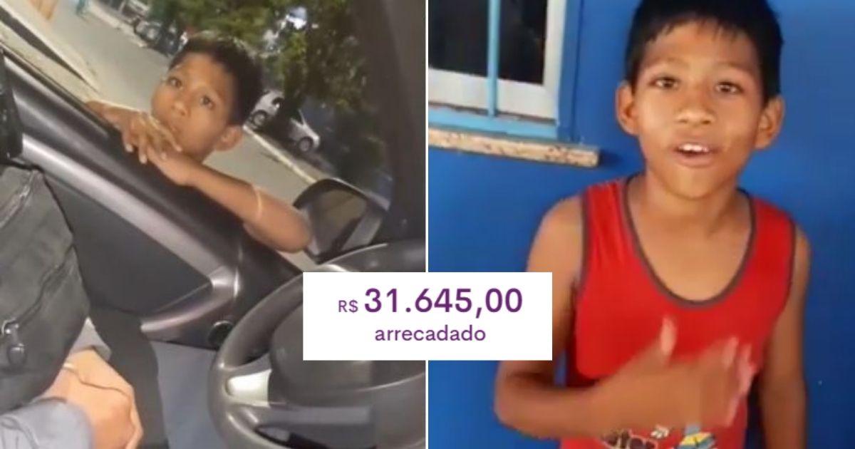 Criança refugiada que pediu comida a policiais, recebe R$ 30 mil de vaquinha para ajudar a família 1