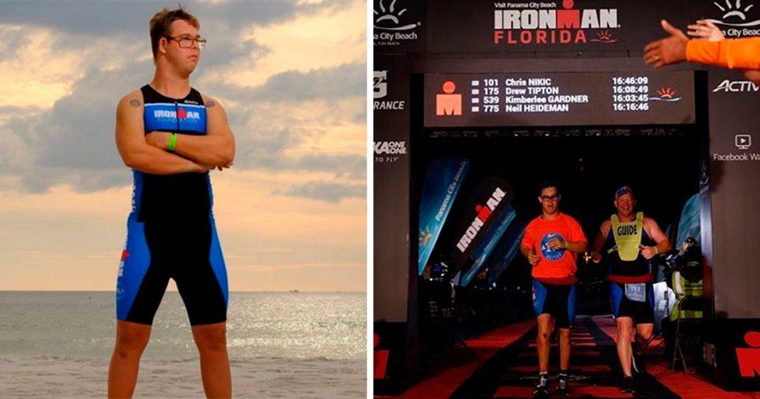 Americano de 21 anos se torna o primeiro com Síndrome de Down a completar Ironman Triathlon 4
