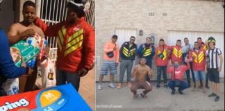 entregadores levam fraldas para motoboy