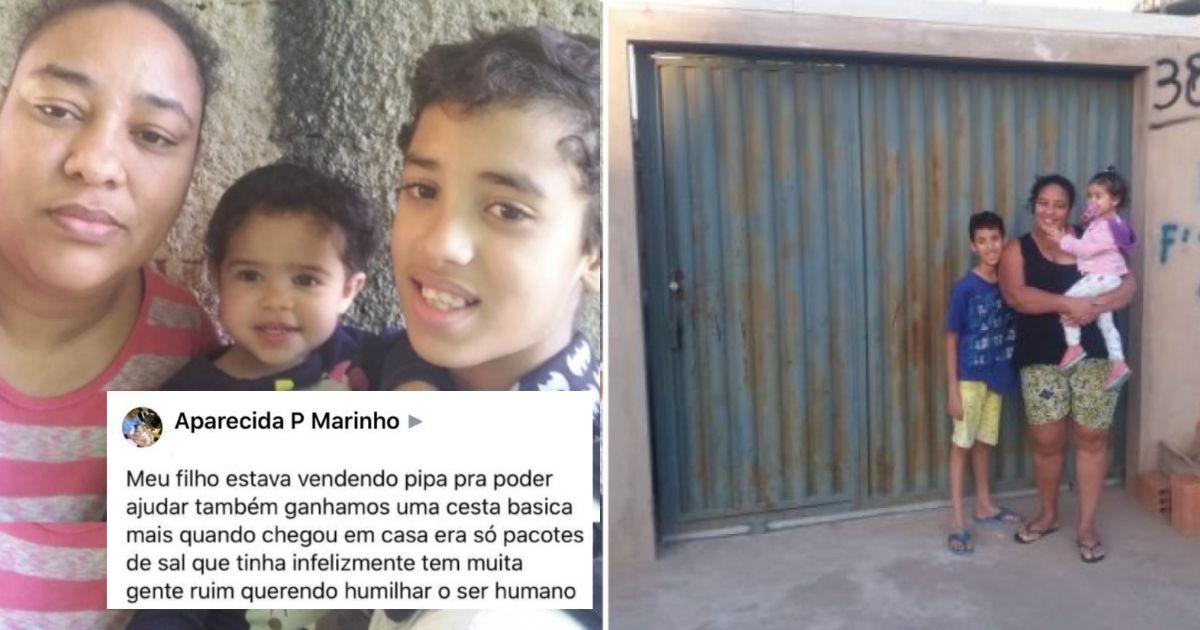 Família que ganhou pacotes de sal no lugar de cesta básica, compra sua casa após vaquinha 2