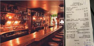 Homem deixa gorjeta de 3 mil em bar