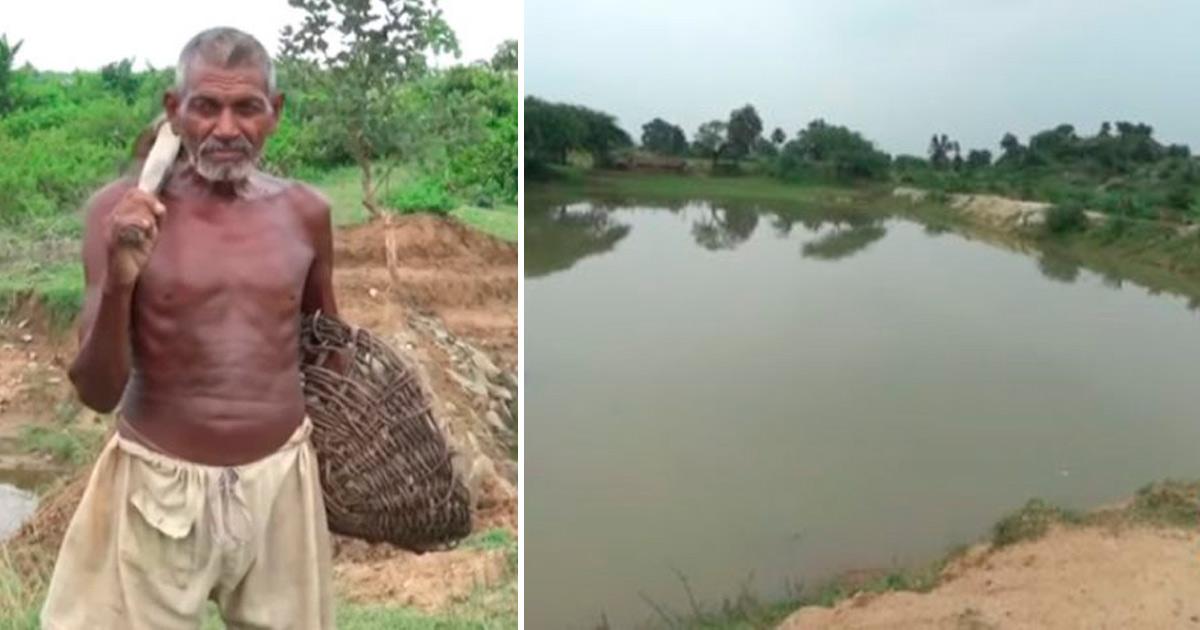 De louco a herói: Indiano escava canal por quase 30 anos e leva água a vila que sofria com a seca 1