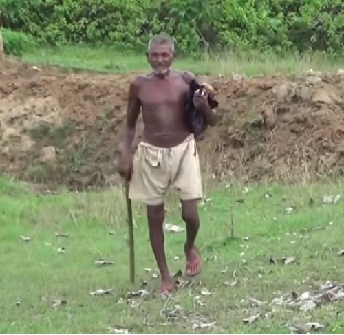 homem escava terra por 22 anos em busca de água potável