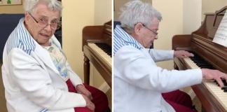 idosa toca sonata ao piano