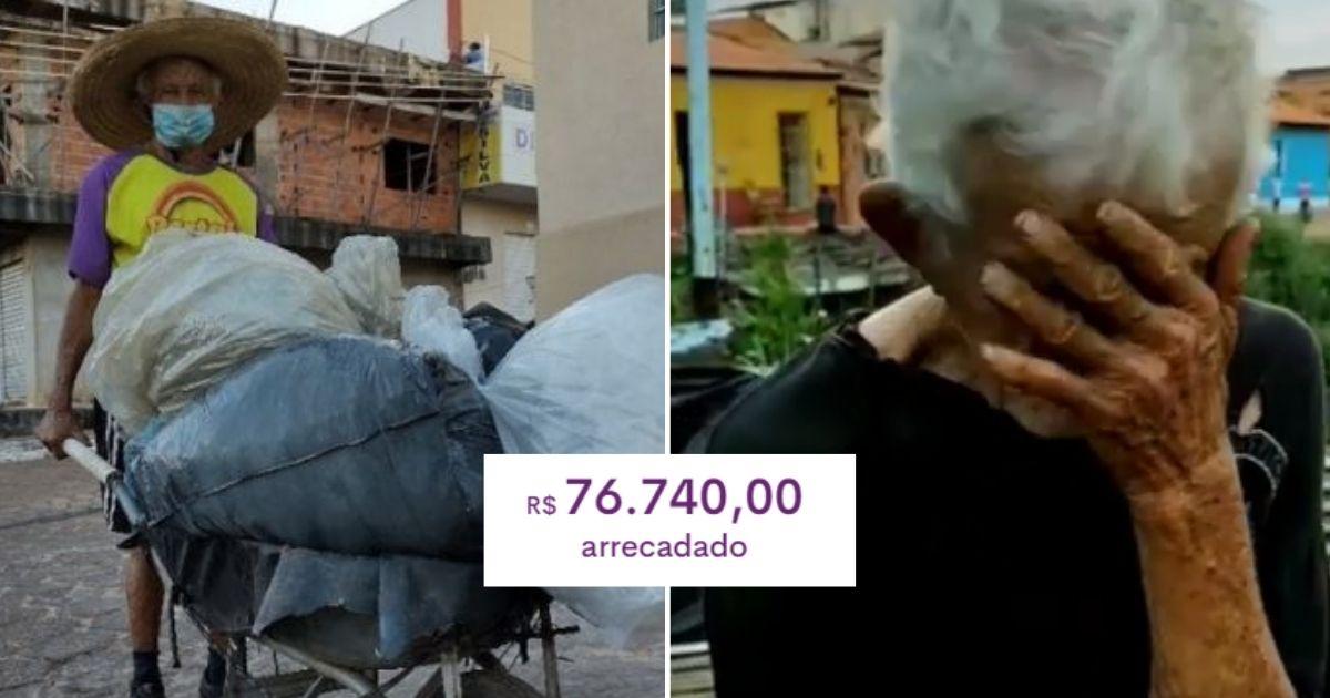 Catador de 105 anos comove web e ganha R$ 76 mil em doações para comprar sua casa 2