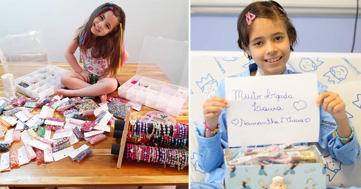 Menina faz lindas pulseiras para alegrar crianças em hospitais e orfanatos 1