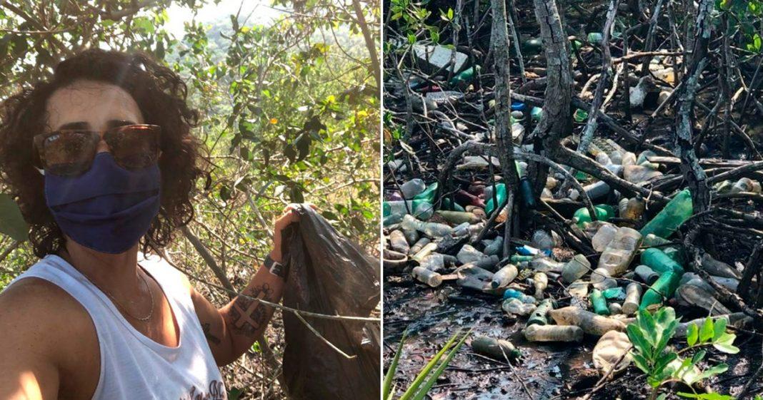 Ela decidiu limpar mangue em Guaratiba-RJ e promoveu verdadeira transformação 2