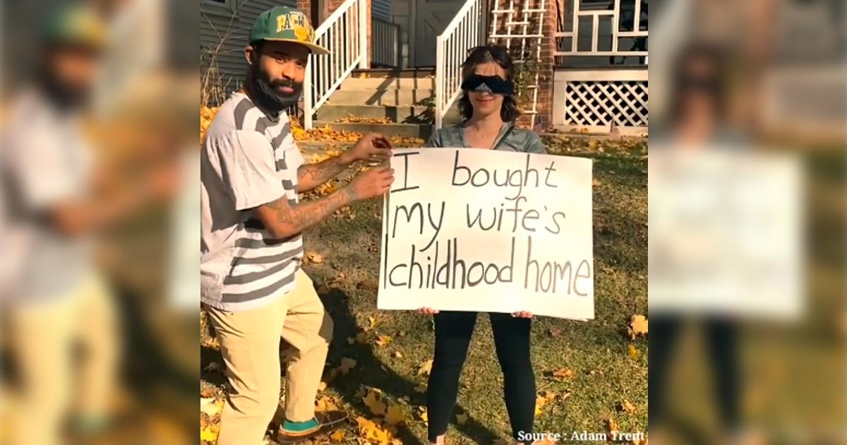 Marido surpreende e compra casa de infância da esposa para realizar o sonho dela [VÍDEO] 1