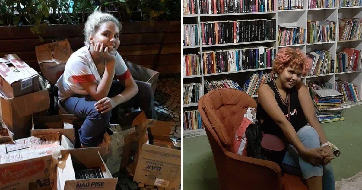 Menina de 13 anos monta sozinha biblioteca em comunidade no RJ e pede apoio para reforma do espaço 1